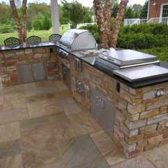 L Shaped Outdoor Kitchen Cheapest Cabinets We Build Decks Sunrooms Screened