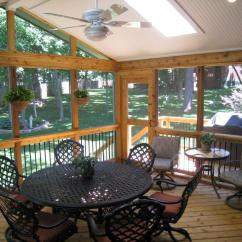 Screen Porch Lounge Chairs Dining Room Chair Covers Storage Kansas City Screened Porches Archadeck Of