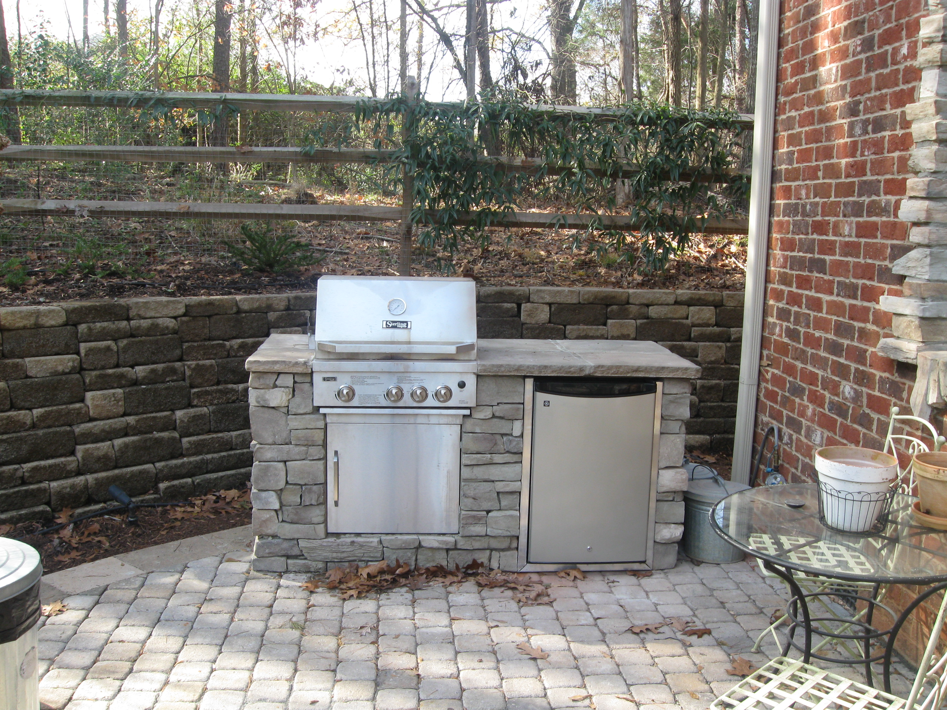 drop in grills for outdoor kitchens single bowl kitchen sinks do i need a special grill or my charlotte on stone paver patio