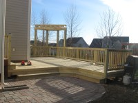 Deck and patio combination is a great solution for ...