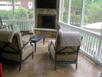 Can you put an outdoor fireplace in an existing screen