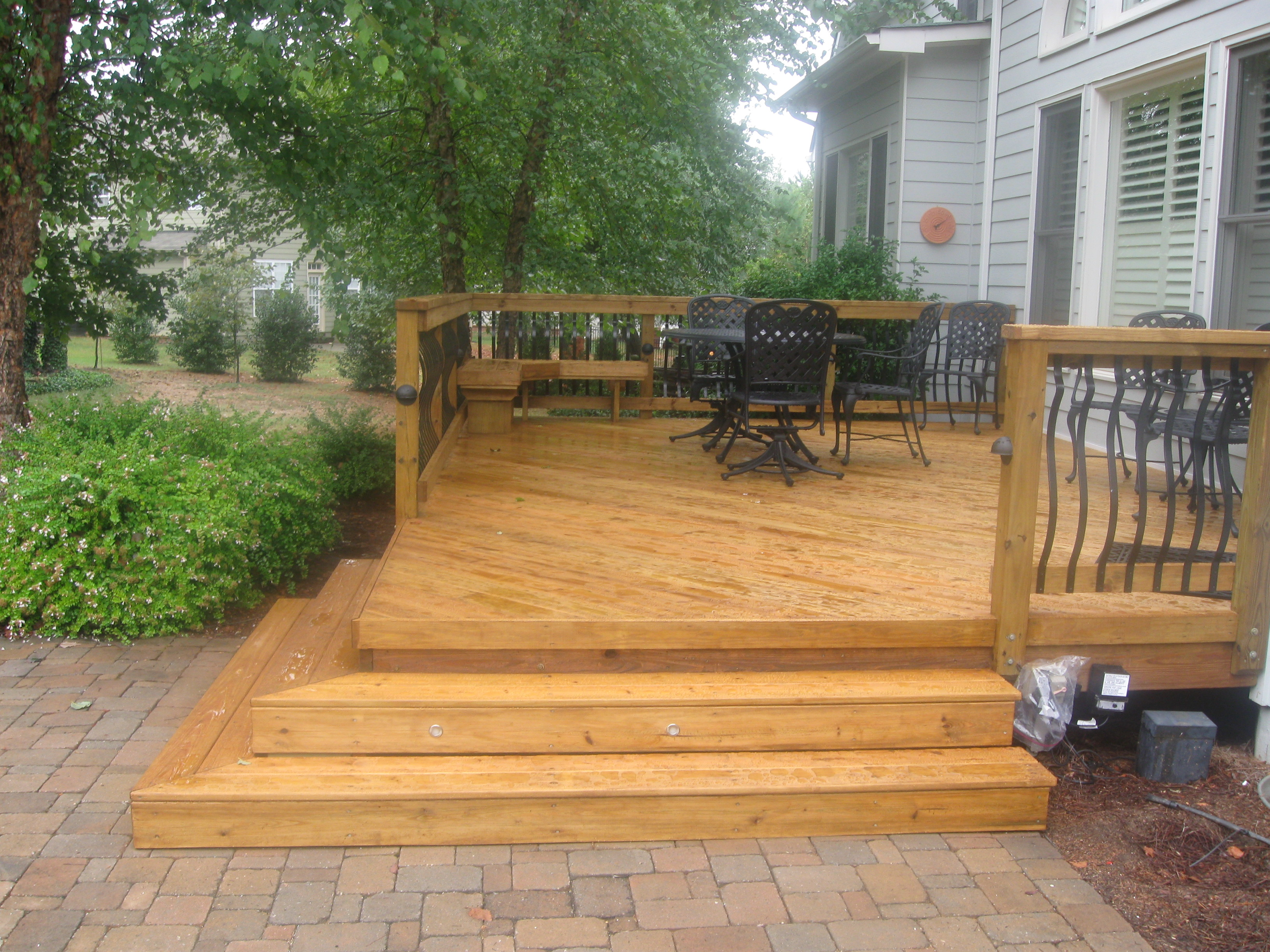 Patio Design, Small Decks, Open Stairs, Brick Patio