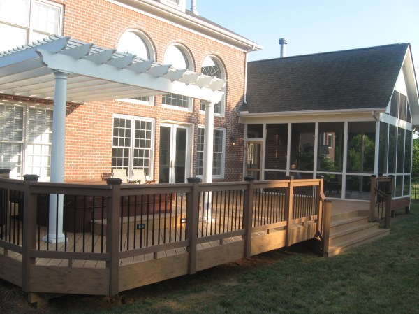 Screened in Porch with Pergola and Deck