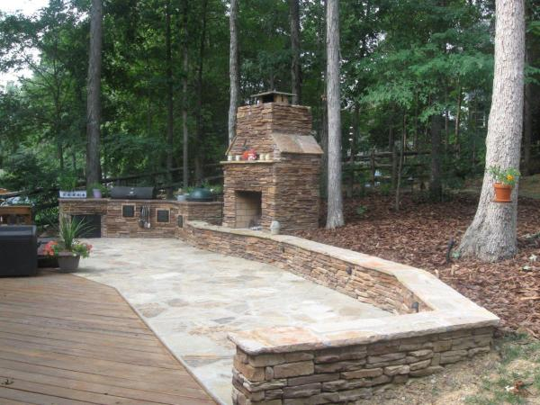 Outdoor Patio Ideas with Fireplace