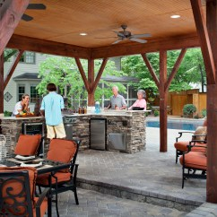 How Much Does An Outdoor Kitchen Cost Unit Archadeck Of Charlotte Decks Screen Porches Sun Rooms Pergolas Designed And Built This Covered With A Cabana All