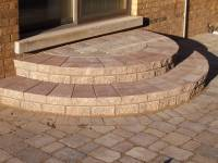 rounded paver stairs decorative design Columbus OH ...