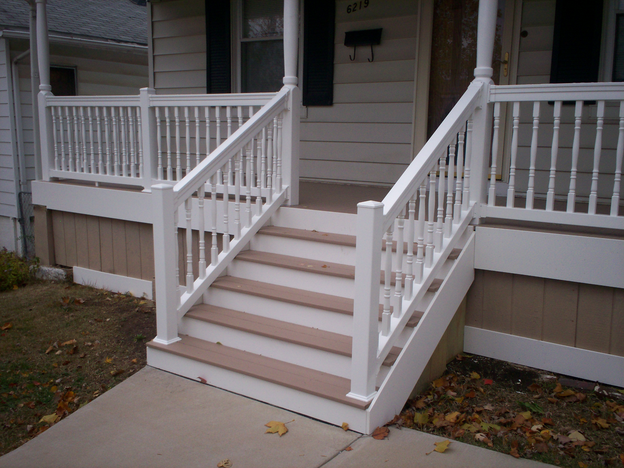 New Composite Deck And Railings Diy Pinterest Railings Brick Walkway And Decking