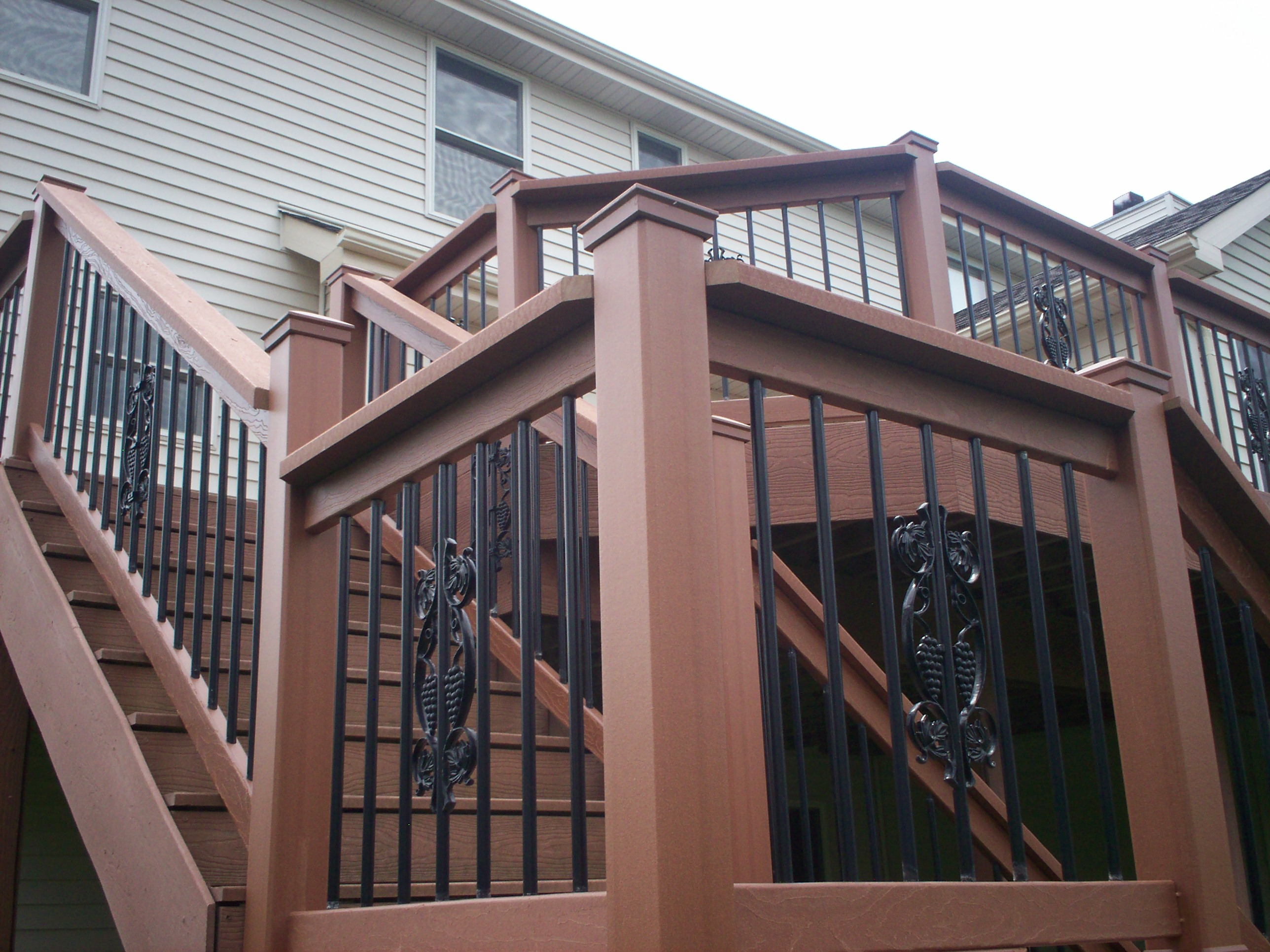 St Louis Deck Design Step It Up With Deck Railing And Stairs | Menards Wrought Iron Railing | Front Porch Railing | Cattail | Spindles | Fence | Balcony