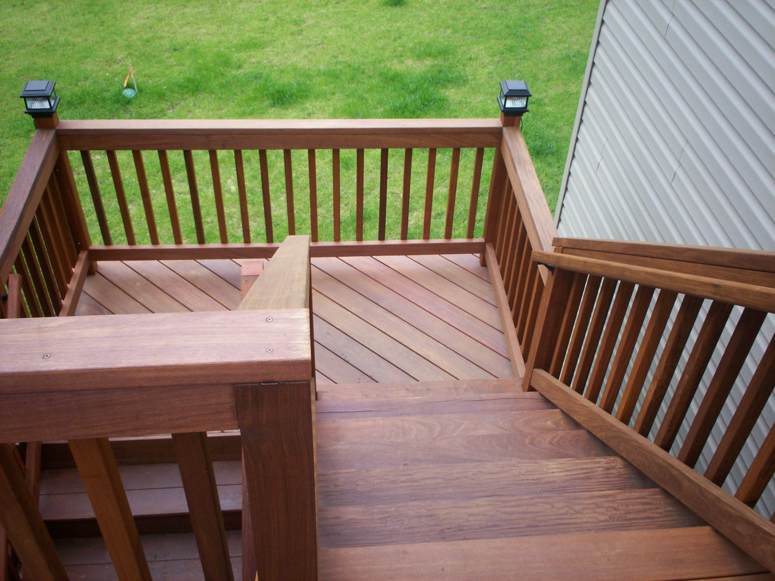 deck stairs with landings  St Louis decks screened porches pergolas by Archadeck