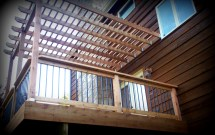 Deck Pergolas Designs with Shape