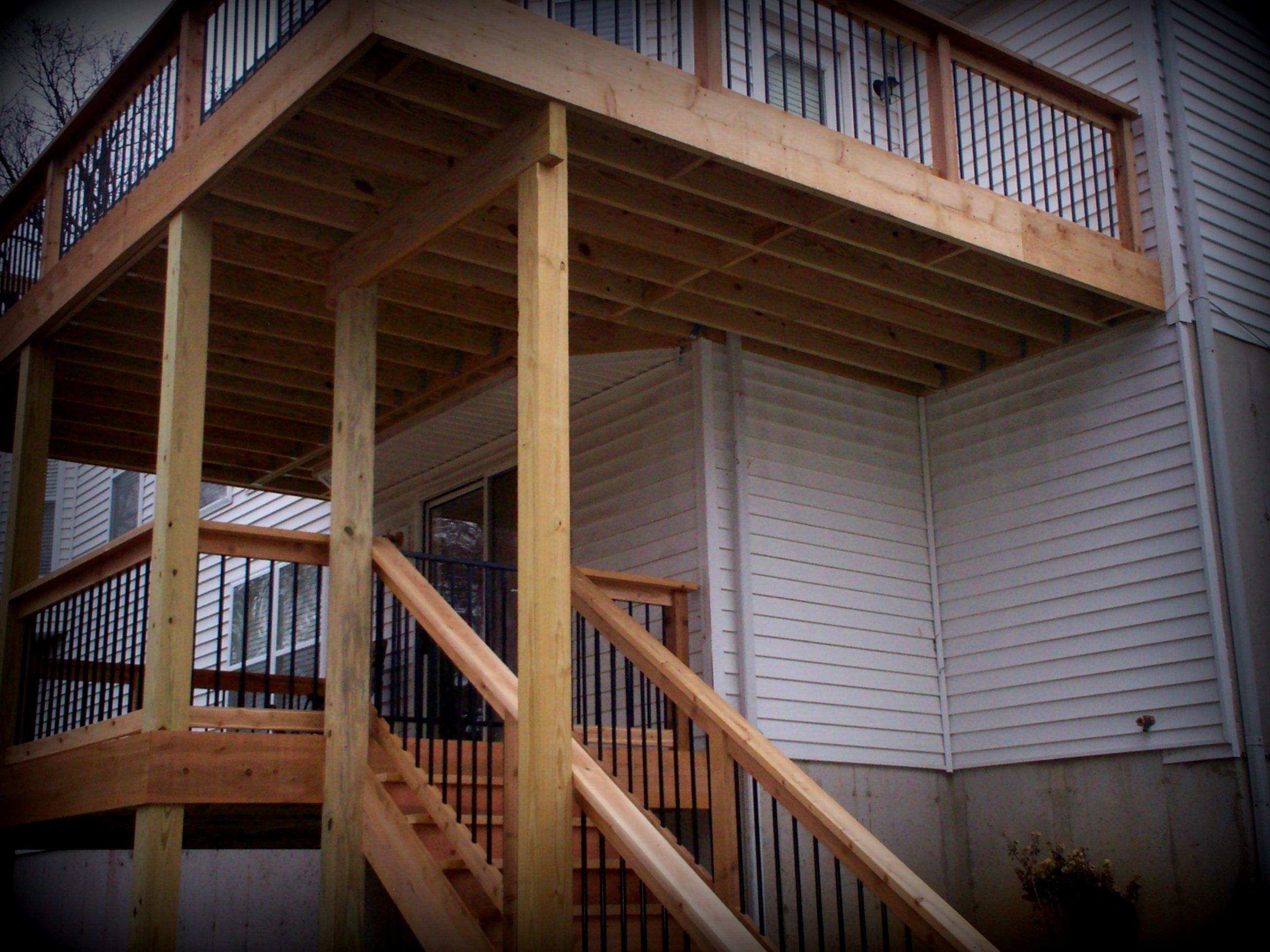 Balcony Decks Elevated Decks Without Stairs By Archadeck – St | Exterior Stairs To Second Floor | Commercial Exterior | Design | Two Story | Covered | Patio