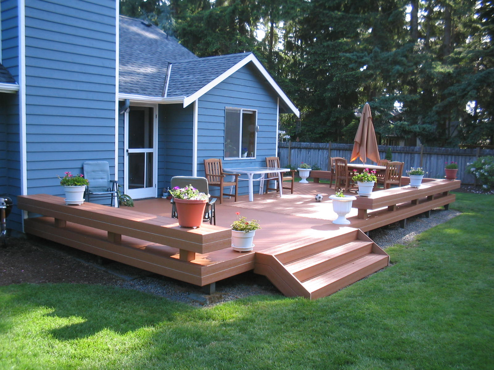 small deck design ideas  St Louis decks screened porches pergolas by Archadeck