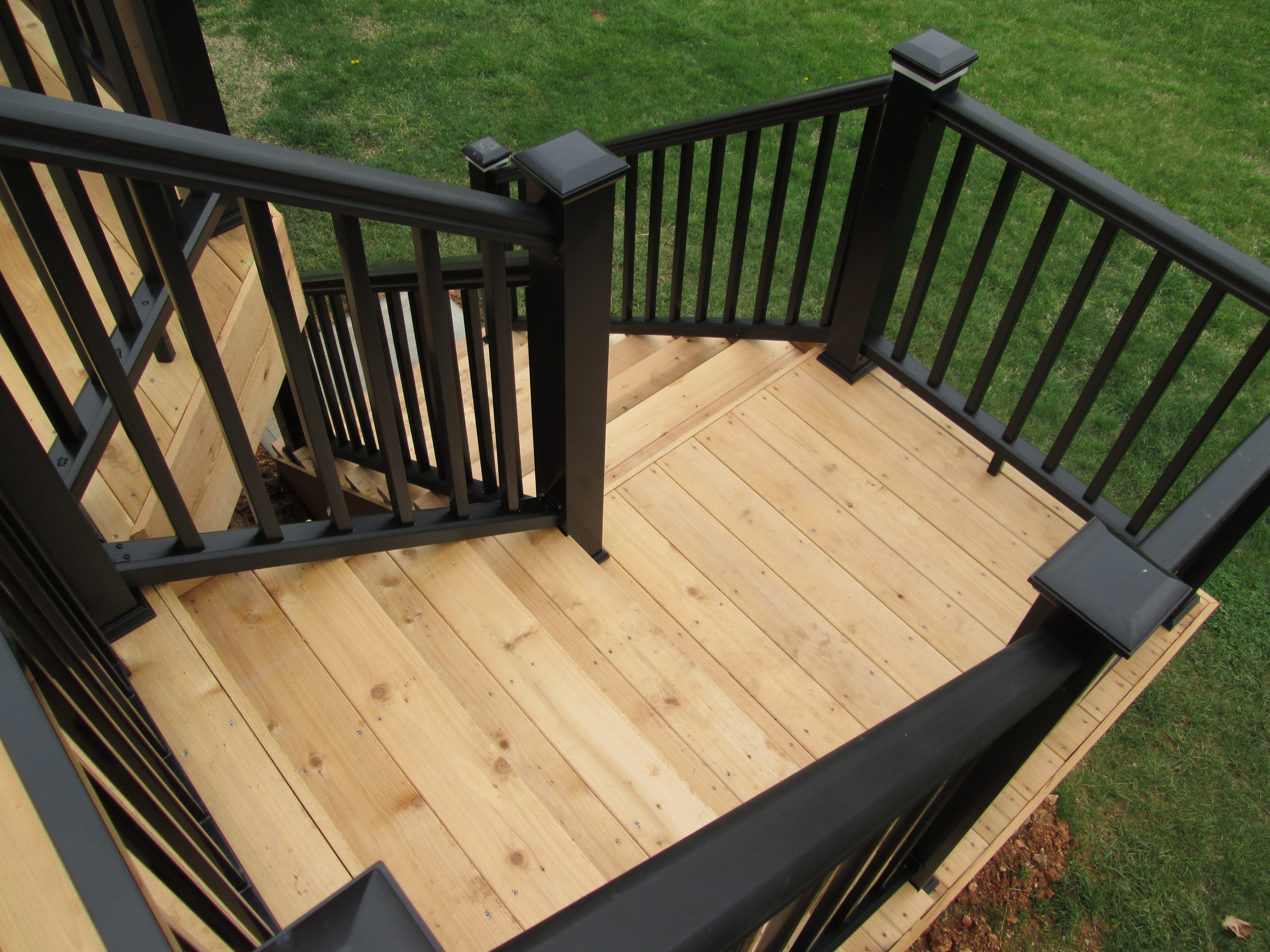 Deck Stairs  St Louis decks screened porches pergolas by Archadeck