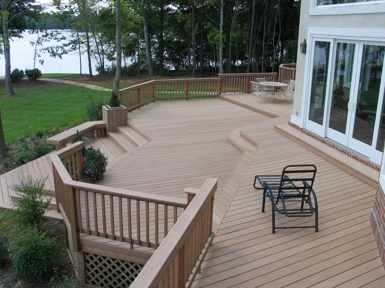 Deck Stairs Ideas How To Choose The Best Stair Design For Your Deck  St Louis decks screened