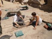 Excavating Roman site of Clunia