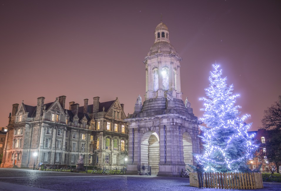 Trinity College Dublin Glows for Christmas ; a Good end to a Great Year