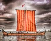 Lofotr, our Replica 9th  Viking ship form the Lofotr Viking Museum