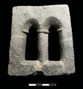 The frame of a late Saxon two light windows