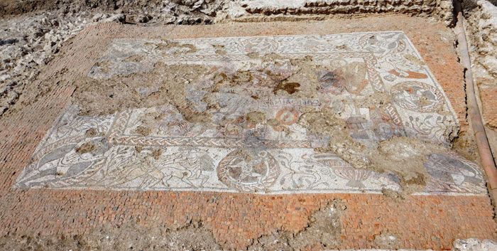 The Boxford mosaic, uncovered and cleaned