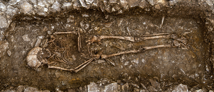 The Anglo-Saxon burial laid to rest with objects traditionally associated with female burials
