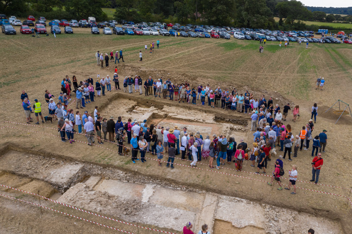 Overlooking the excavations during the project's open day