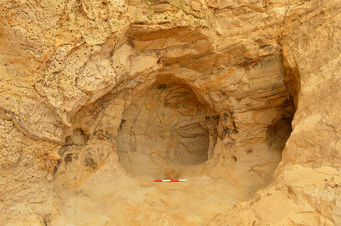 The sandstone cave
