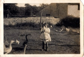 Mary and a goose