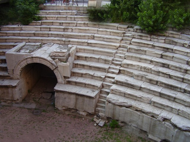 This 2010 photo of the Ancient Roman Stadium in Bulgaria's Plovdiv shows it before its restoration. Photo: Kmrakmra, Wikipedia