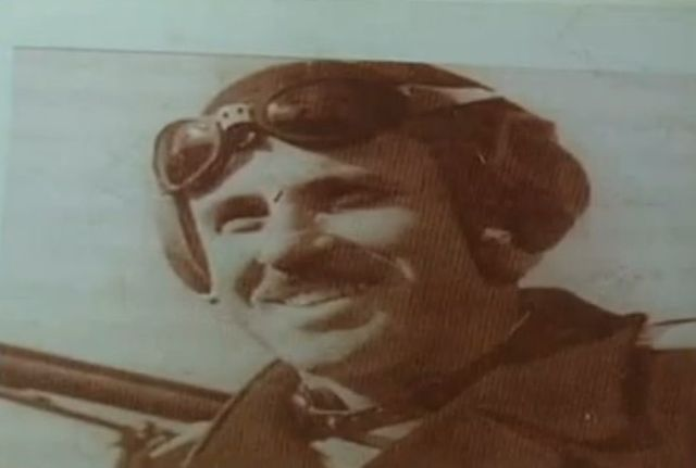 A photograph from Patrick John Brown's collection: Bulgarian fighter ace Gen. Stoyan Stoyanov (1913-1997) who had 14 victories in air fights during the Allied Bombing of Bulgaria's capital Sofia in World War II. Photo: TV grab from BNT 2