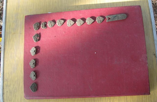 A total of 16 bronze applications from the belt of a bagatur, a mid-ranking Ancient Bulgar warrior from the period of the First Bulgarian Empire (632/680-1018 AD) have been found in a hut near the Slavnata Kanara (Glorious Rock) Fortress near the towns of Debrene and Prilep in Northeast Bulgaria. Photo: Dobrich Online