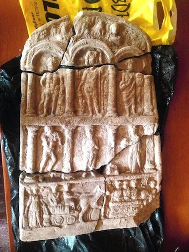 This gravestone seized from treasure hunters near the Ancient Roman city of Abritus in Northeast Bulgaria is said to have belonged to a Thracian aristocrat who was a civil servant in the Roman Empire. Photo: National Museum of History