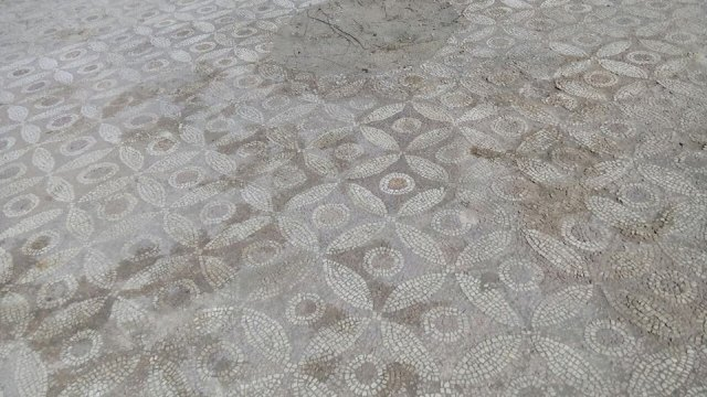 The archaeologists working on the re-excavation and conservation of the Early Christian floor mosaics in the 5th century Great Basilica in Bulgaria's Plovdiv have uncovered almost completely the older layer of mosaics. Photos: Plovdiv Mayor Ivan Totev, Facebook Profile