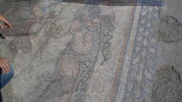 "The ""Dionysus's Procession"" mosaic found in the Roman city of Augusta Traiana in Bulgaria's Stara Zagora is dated to the third quarter of the 4th century AD, and more specifically to the reign of Roman Emperor Julian the Apostate (r. 360-363 AD). Photo: Stara Zagora Regional Museum of History"