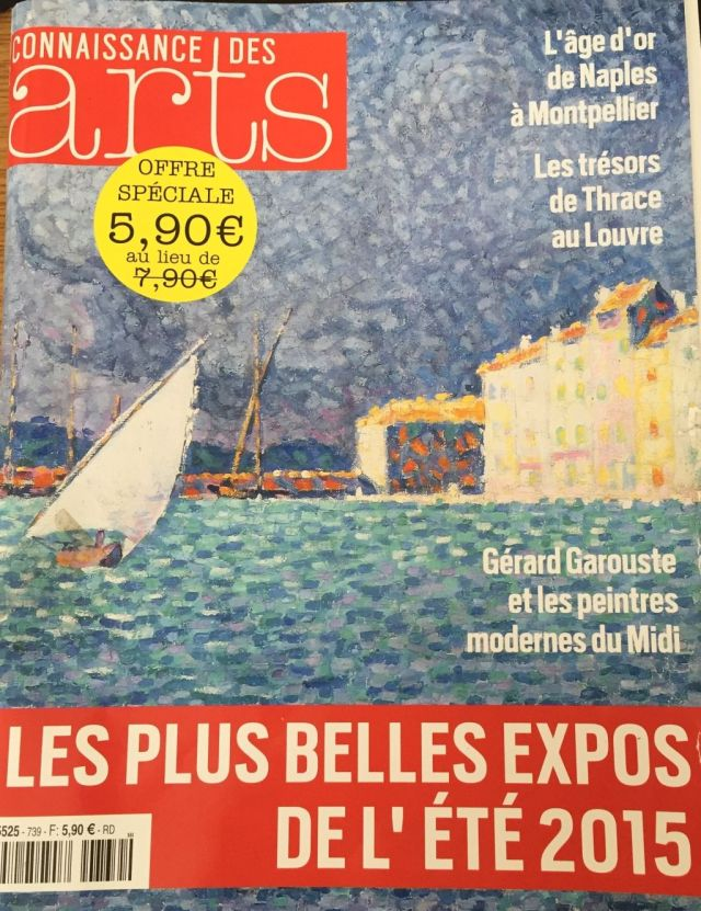 The cover of the July-August print issue of the French magazine Connaissance des Arts discussing the best exhibitions in Europe for the summer of 2015, including Bulgaria's Ancient Thracian exhibit in the Louvre. Photo: Bulgaria's Ministry of Culture