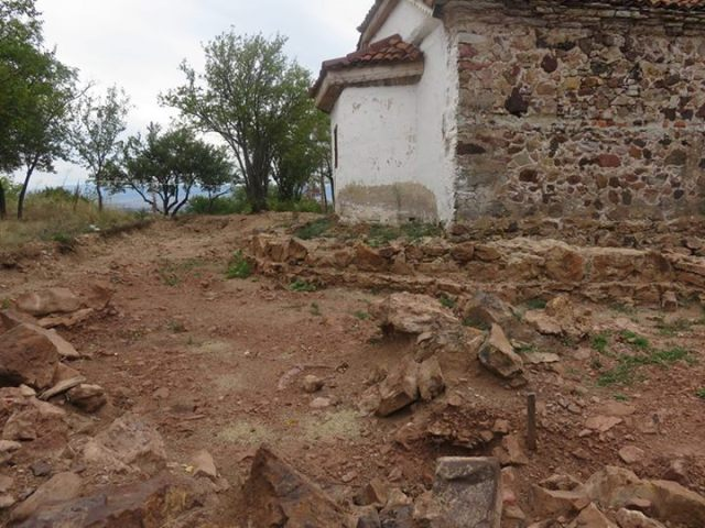 The newly excavated ruins of the Early Christian 4th century basilica in the Buhovo Monastery near Sofia, with the 19th St. Mary Magdalene Church in the background. Photo: Sofia Mayor Yordanka Fandakova's Facebook Page