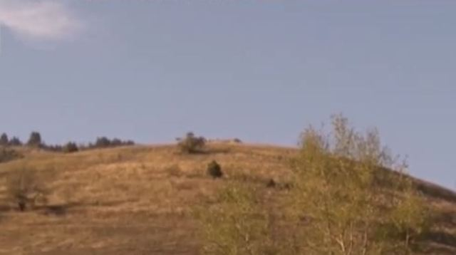 A view of the Koloto Mound near the town of Orehovo, Chepelare Municipality, in Southen Bulgaria, which hides an Ancient Thracian shrine or temple underneath, according to local legends. Photo: TV grab from BNT
