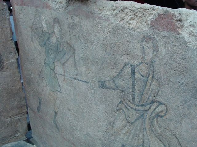The same mural of Jesus Christ (right) healing the paralyzed man seen from another angle. Photo: Plovdiv24