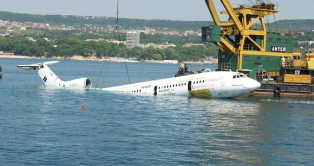 Former communist dicator's plane submerged in the Black Sea