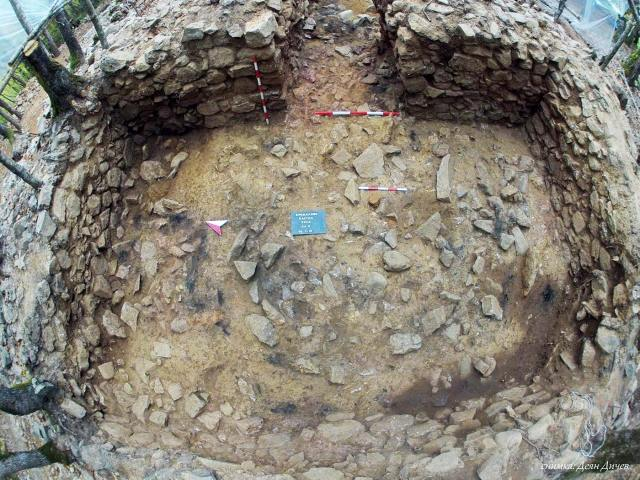The newly excavated ruins of the fortified residence of a ruler of the Ancient Thracian tribe Asti near the town of Brodilovo, Tsarevo Municipality, in Southeast Bulgaria. Photo: Lead archaeologist Deyan Dichev/Tsarevo Municipality