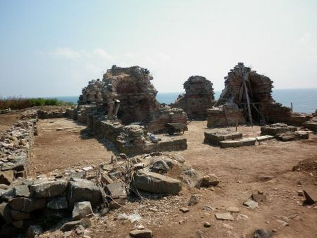 Part of the ruins of the Early Christian St. John the Baptist Monastery on the St. Ivan (St. John) Island in the Black Sea off the coast of Bulgaria's Sozopol. Photo: BurgasNews