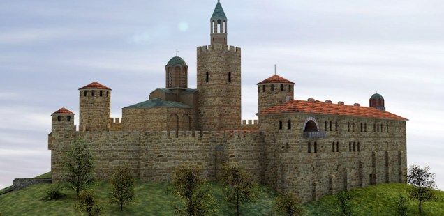3D Model of Tsarevets Hill Fortress Shows Bulgaria's Late Medieval Capital Veliko Tarnovo in 14th Century