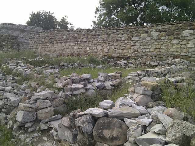 The partly restored ruins of the Ancient Roman city and fortress of Montanesium, today's Montana in Northwest Bulgaria. Photo: Montana Regional Museum of History