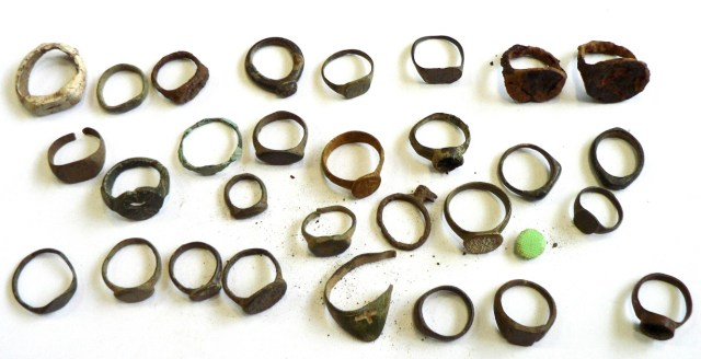 Copper and bronze rings captured at Sofia Airport. Photo: Customs Agency