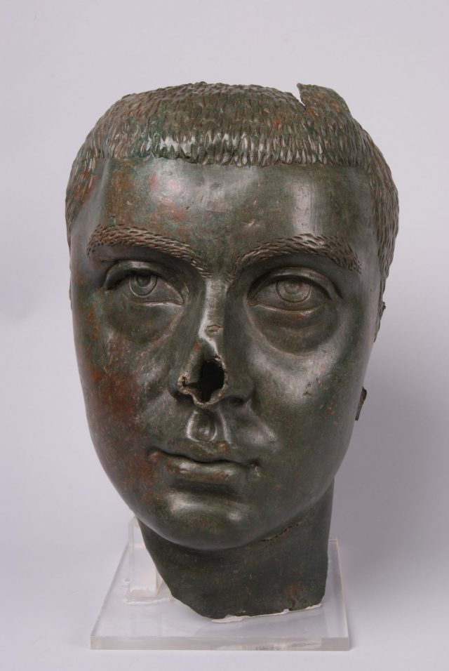This 3rd century AD bronze head sculpture of Roman Emperor Gordian III was part of a 2.3-meter tall statue which decorated the forum of the ancient city of Nicopolis ad Istrum near Bulgaria's Veliko Tarnovo. Photo: Central Library of the Bulgarian Academy of Sciences/National institute and Museum of Archaeology/Europeana Carare Project