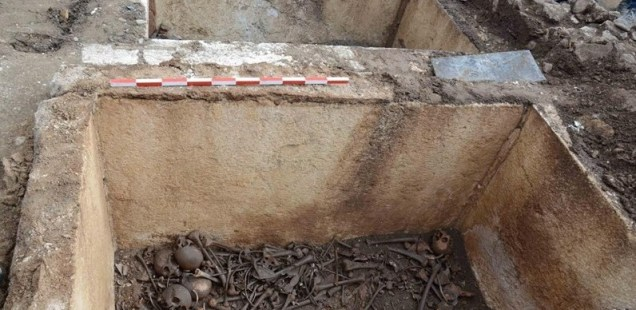 Two Family Tomb Sarcophagi from Roman City Augusta Traiana Found during Construction in Bulgaria's Stara Zagora