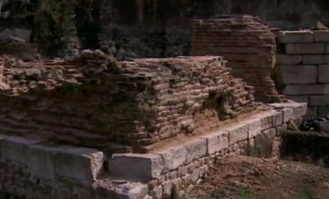 The ruins of the Western Gate and customs of Ancient Serdica. Photos: TV grabs from bTV