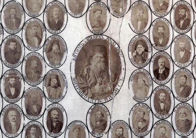 Exarch Anthim I (in the middle), the first head of the restored Bulgarian Church, together with other Bulgarian revivalists, i.e. prominent figures from the National Revival period in the 18th-19th century. Photo: BNT