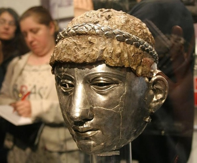 Stolen Thracian-Roman Silver Mask Helmet Restored, Showcased in Bulgaria's Plovdiv 21 Years after Theft
