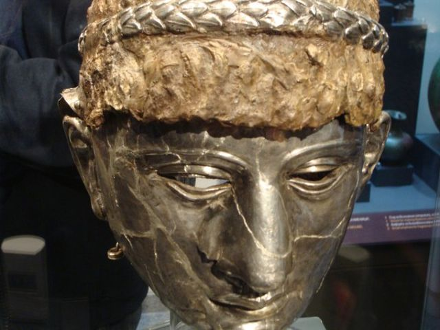 The Thracian-Roman mask helmet from Bulgaria's Plovdiv is one out of a total of three of its kind in the world. Photo: Plovdiv24