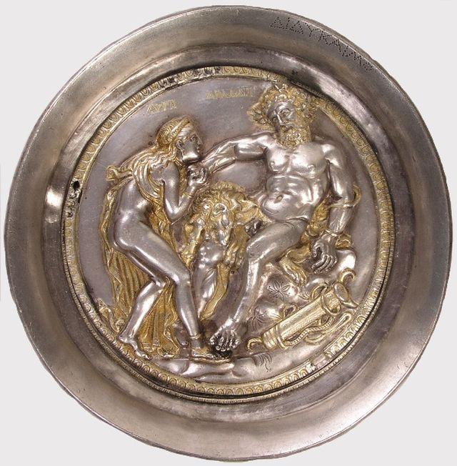 This world-famous phiale from the Rogozen Silver Treasure kept in Bulgaria's Vratsa features a scene from the ancient mythology of Athena's priestess Auge and the hero Heracles (Herculas). Photo: Hayredin Municipality